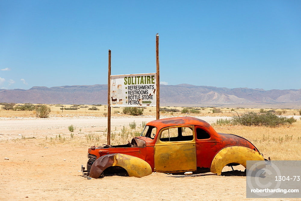 Solitaire is a cool town in the middle of Namibia, it is full of rusting cars, bikes and disused fuel pumps.
