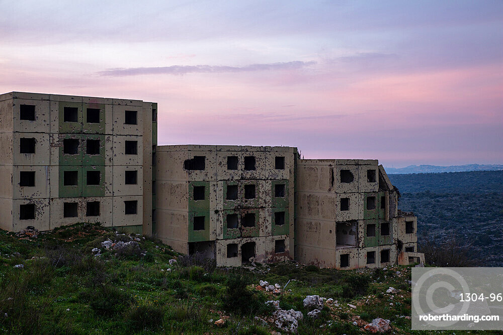 War Ruins in Lebanon during sunset in Spring 2019. Situated near Jezzine.