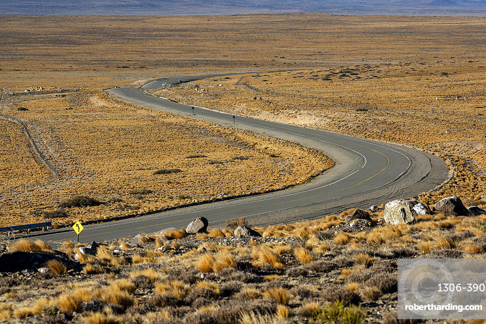 Sweeping road passing through a landscape, National Route 40, Patagonia, Argentina
