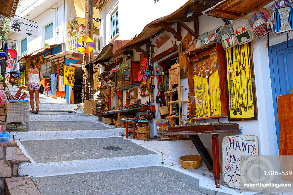 Typical old town street in Parga, Preveza, Greece