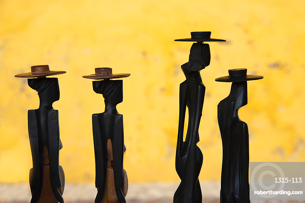 Figurines for sale at a market in Trinidad, Cuba