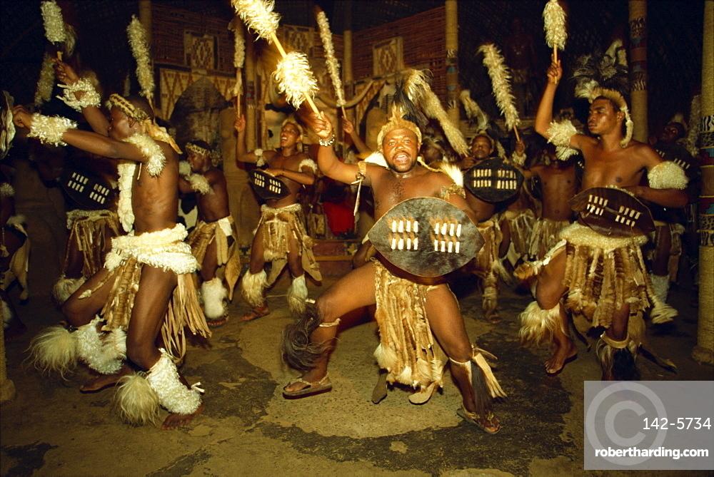 Zulu dances at a cultural | Stock Photo