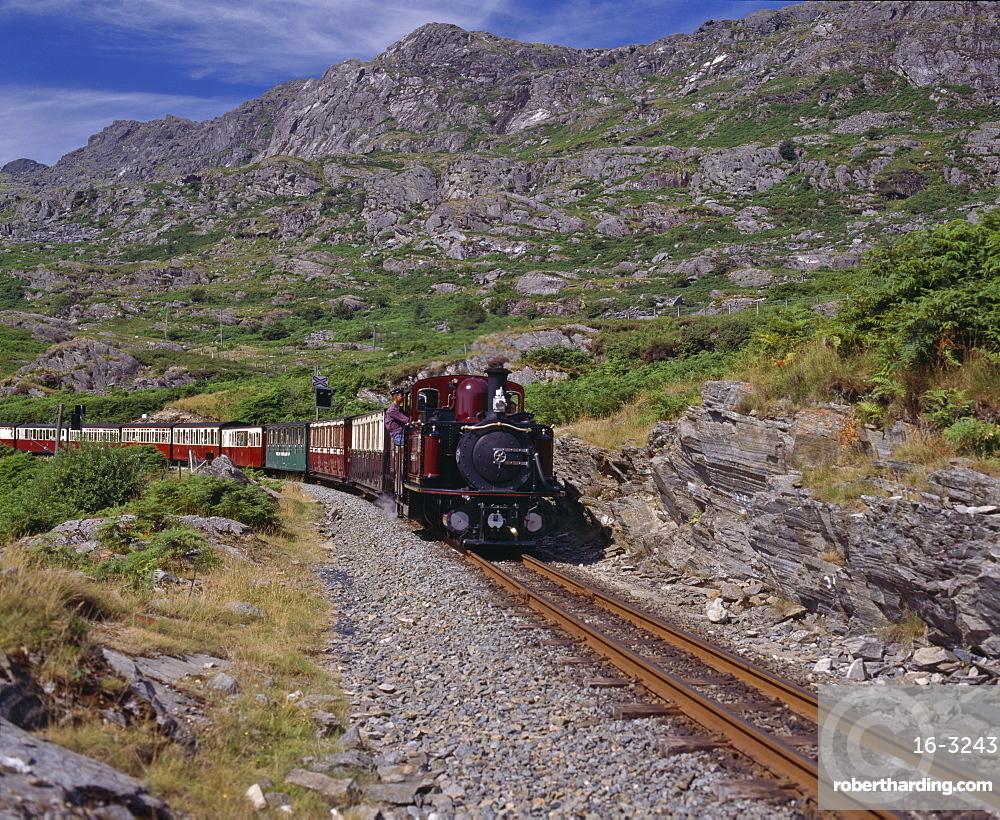 Ffestiniog Railway at Tanygrisiau, the | Stock Photo