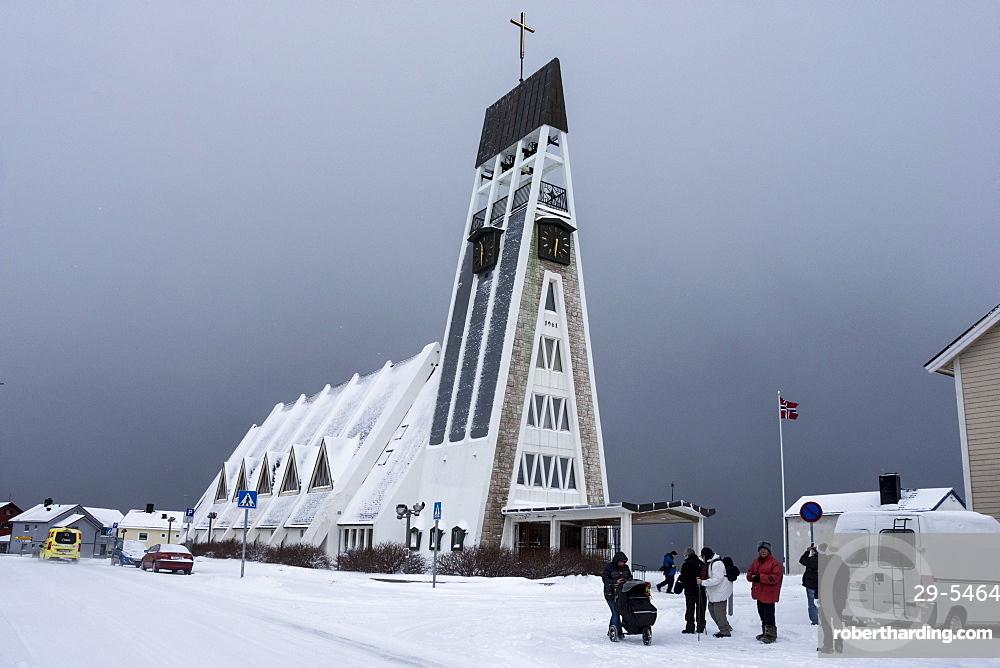 Parish church of Hammerfest, Finnmark, Arctic, Norway, Scandinavia, Europe