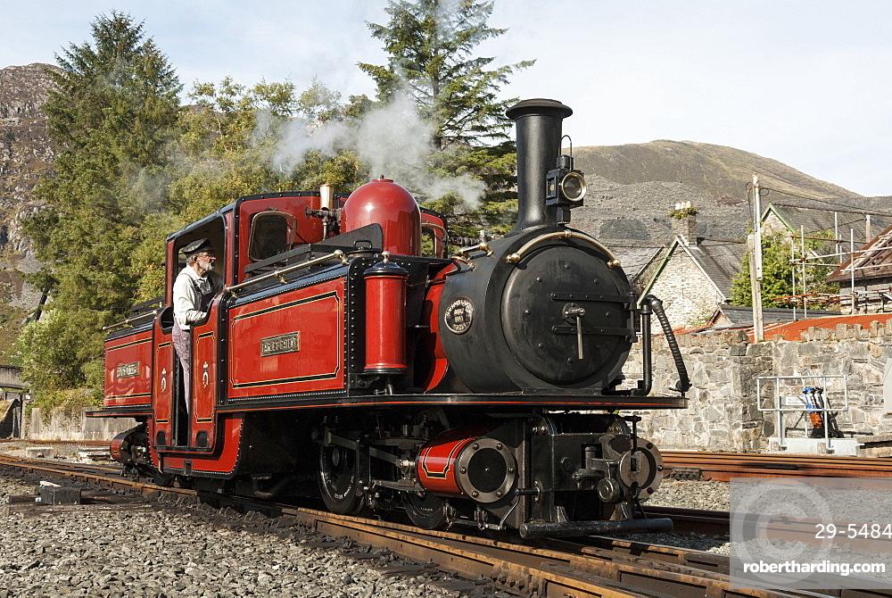 Steam engine, Ffestiniog Railway, Gwynedd, North Wales, Wales, United Kingdom, Europe