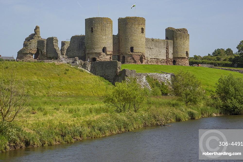 Rhuddlan castle, Denbighshire, Wales