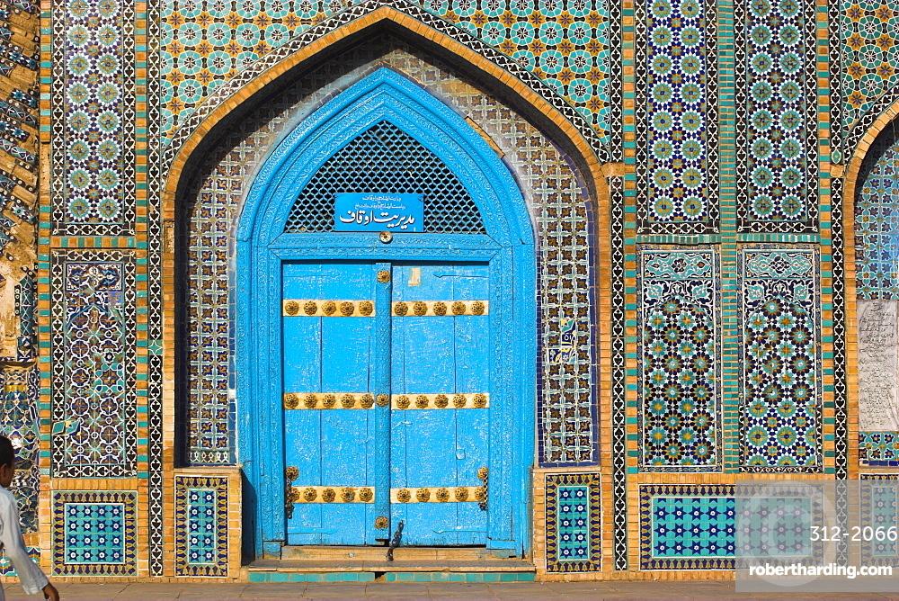 Shrine of Hazrat Ali, who was assassinated in 661, Mazar-I-Sharif, Balkh province, Afghanistan, Asia