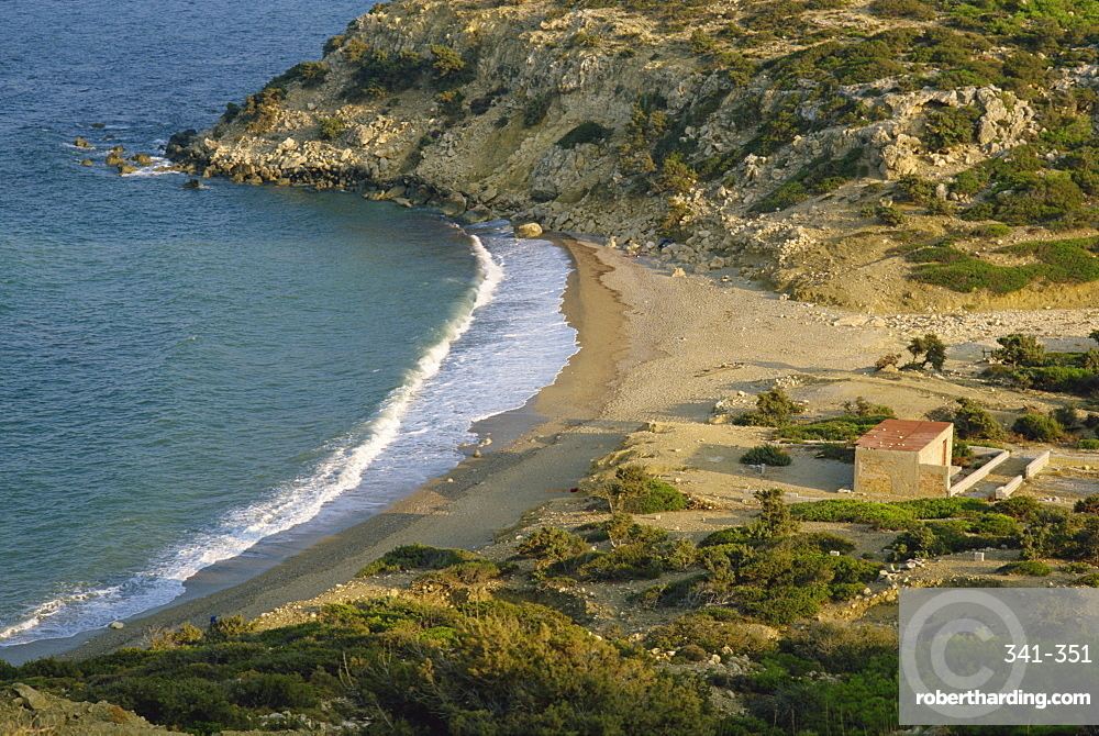 Coastline at Korfos Beach, on Gavdos, Greece, Europe