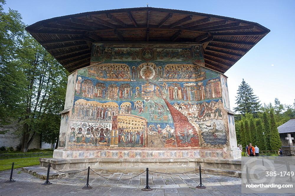 Saxon painted Church, Voronets Monastery, founded 1488, Orthodox Christian, UNESCO World Heritage Site, Voronets, Bukovina, Romania, Europe