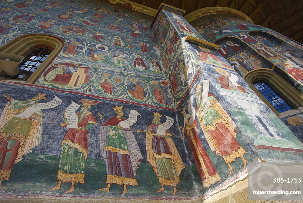 Suchevitsa (Sucevita) Monastery, Saxon painted Church, founded 1582, Orthodox Christian, UNESCO World Heritage Site, Suchevitsa, Bukovina, Romania, Europe