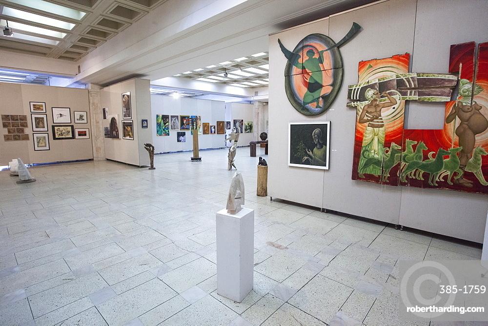 Contemporary Art Museum inside the Palace of Parliament, Bucharest, Romania, Europe