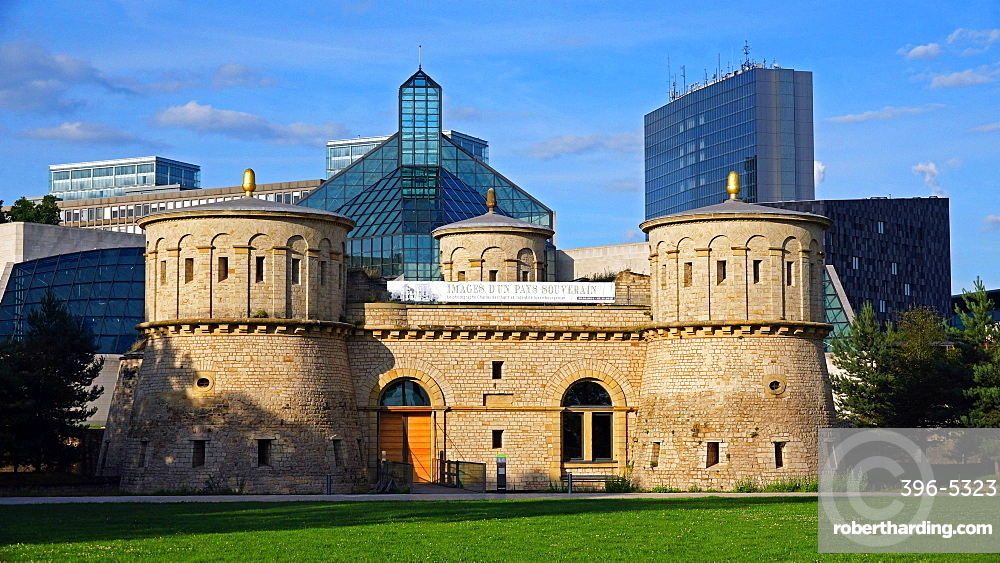 Fort Thuengen with Fortress Museum in Luxembourg City, Grand Duchy of Luxembourg, Europe