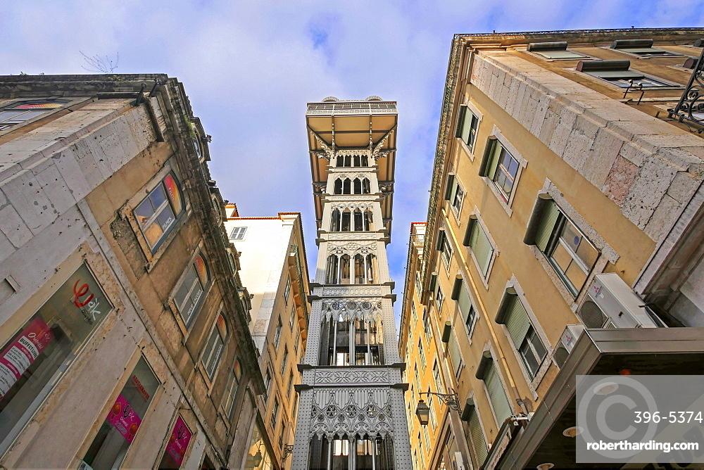 Elevator de Sant Justa, Baixa, Lisbon, Portugal, Europe