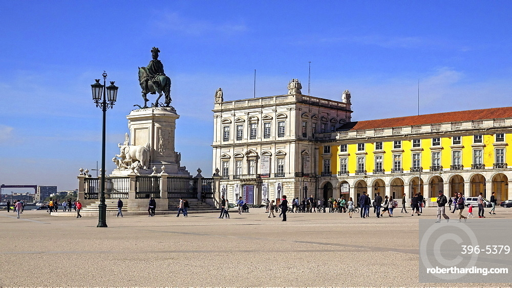 Praca de Comercio, Baixa, Lisbon, Portugal, Europe