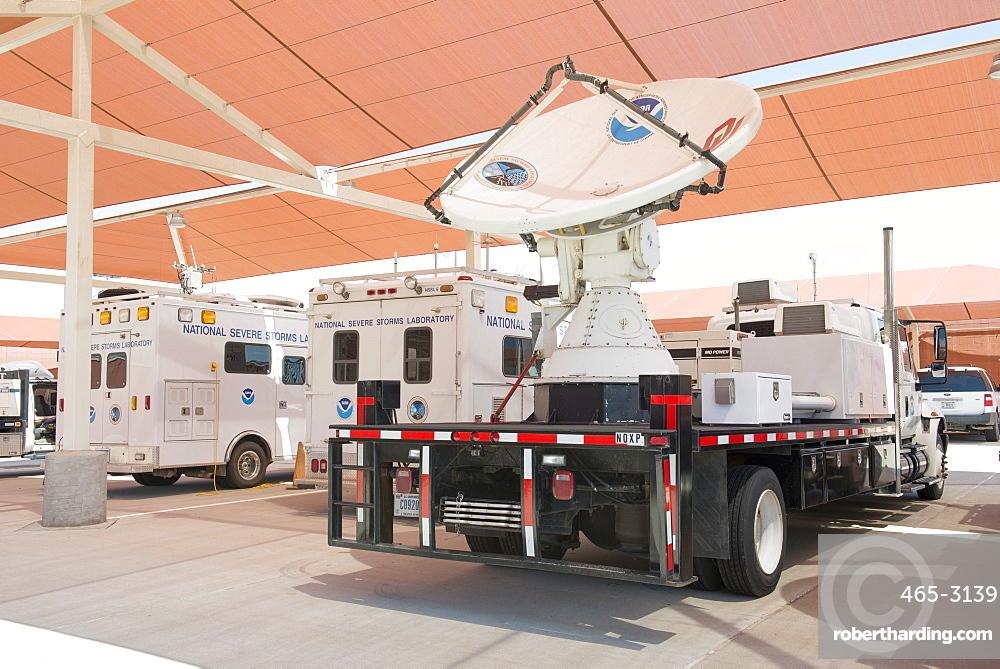 Dual-polarized X-Band mobile radar known | Stock Photo