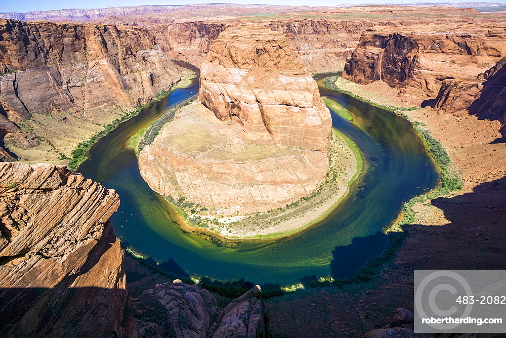 Horseshoe Bend in the Colorado River, Arizona, United States of America, North America