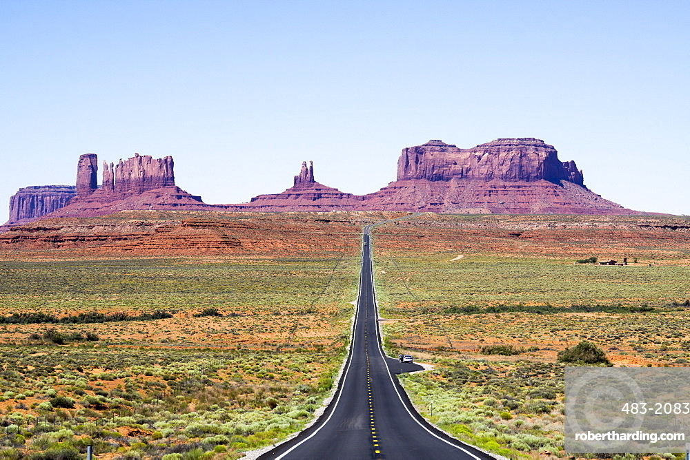 Arizona rock formations and roads