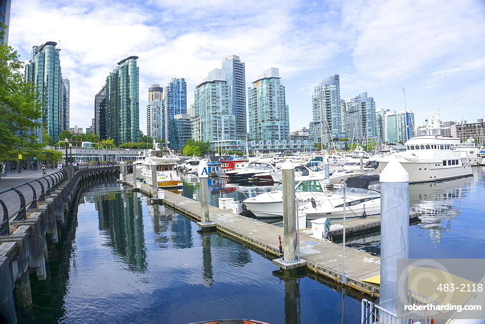 Vancouver marina and town in background