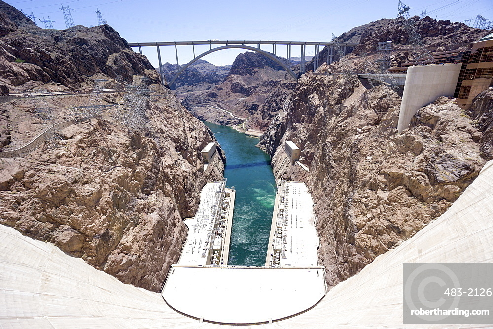 Hoover Dam and lake, border of Arizona and Nevada, United States of America, North America