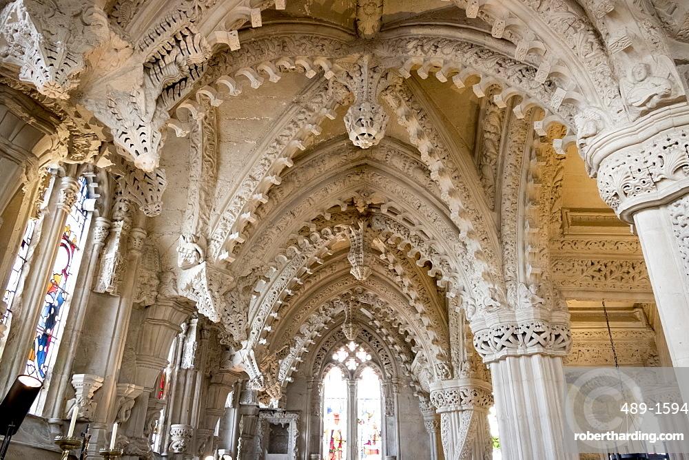 Vaulting in Rosslyn Chapel, Roslin, Midlothian, Scotland, United Kingdom, Europe
