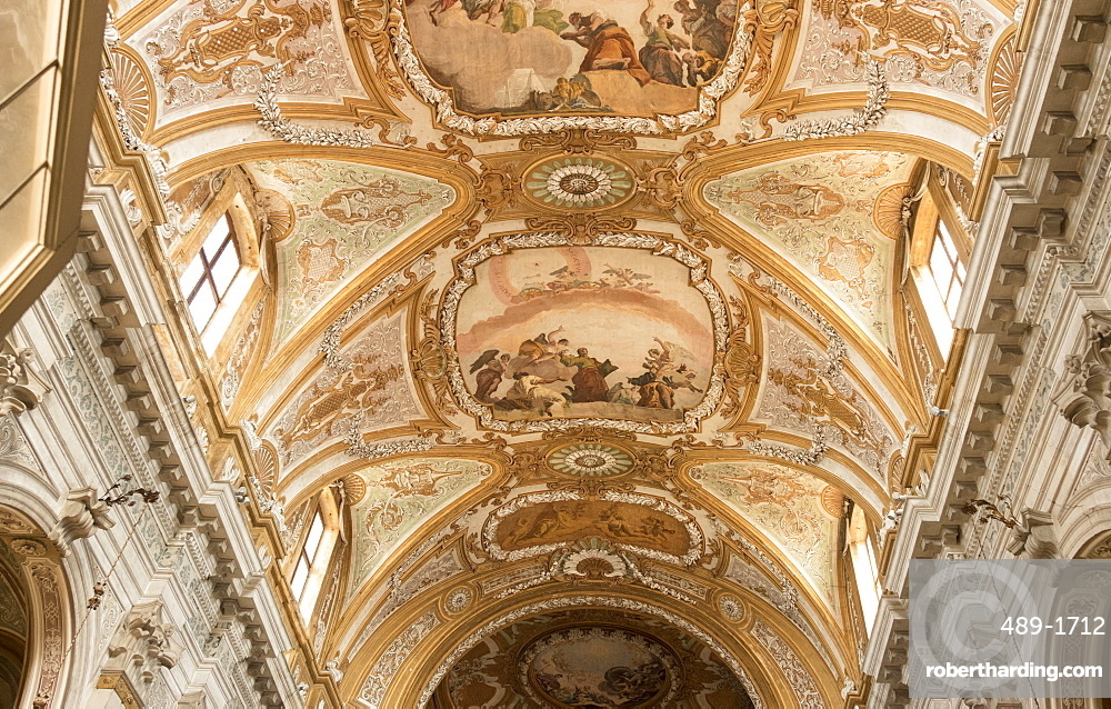 Painted ceiling, Church of Santa Maria Assunta, Venice, UNESCO World Heritage Site, Veneto, Italy, Europe
