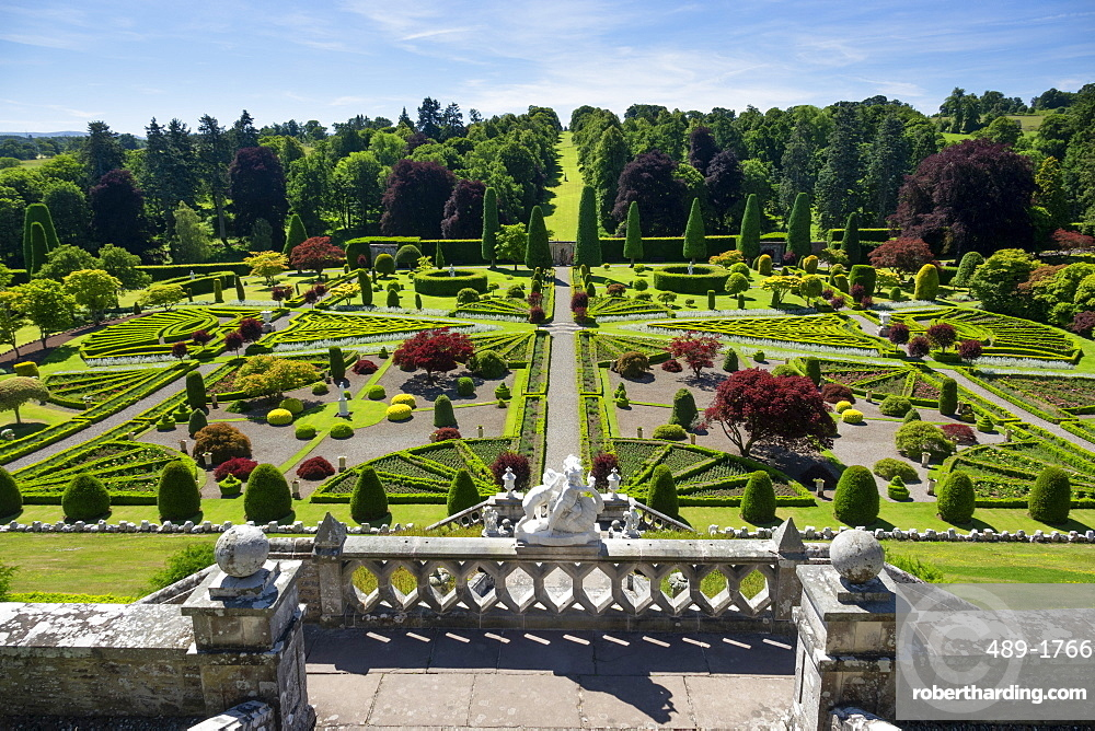 Drummond Castle Gardens, Perthshire, Scotland, United Kingdom, Europe