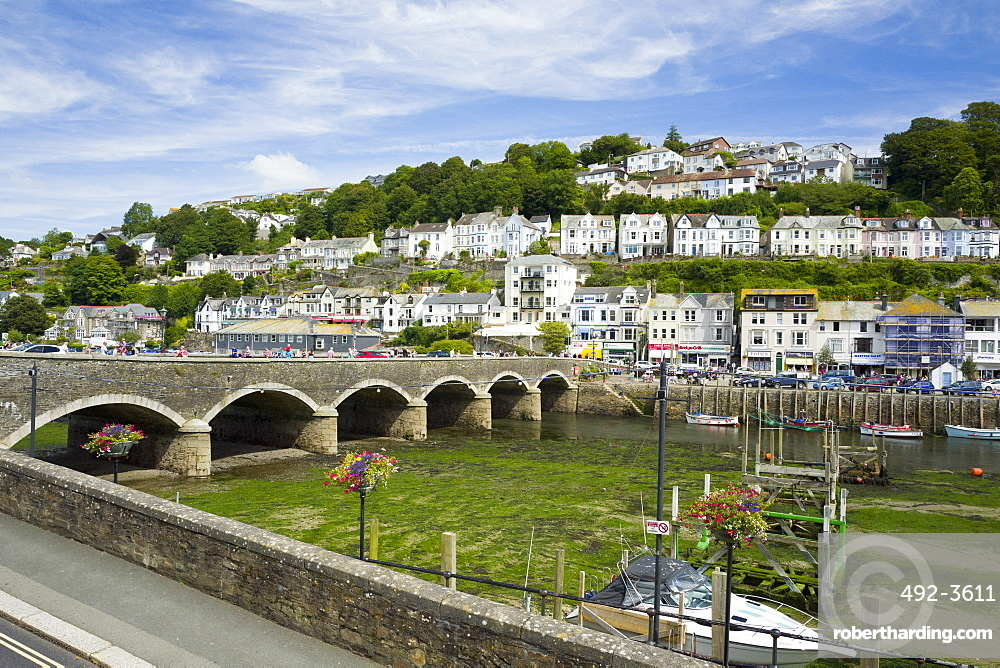 Looe harbour and bridge, Cornwall, England, United Kingdom, Europe