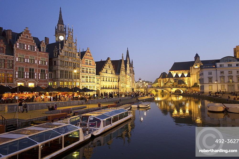 River Leie in Ghent, Belgium