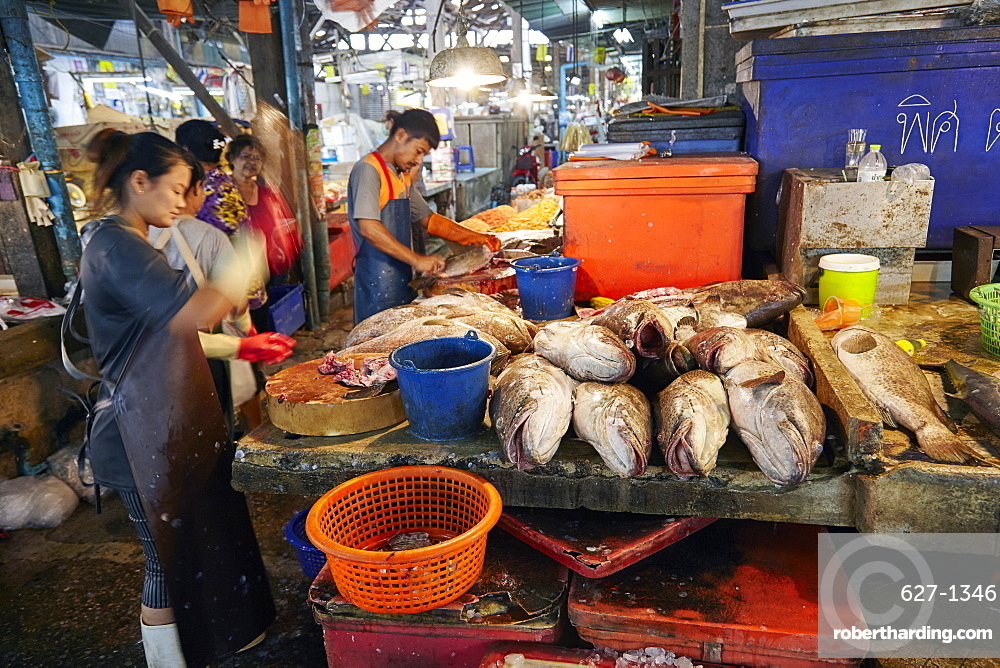 Fish Market at Samut Sakhon, Bangkok, Thailand