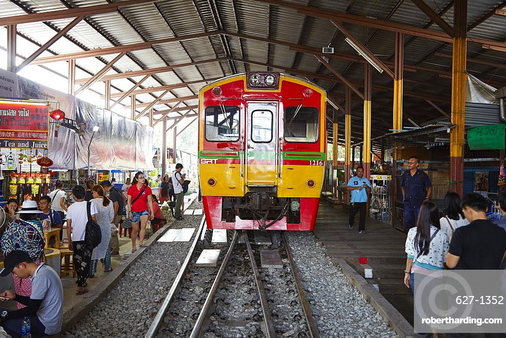 Maeklong railway, Bangkok, Thailand, Southeast Asia, Asia