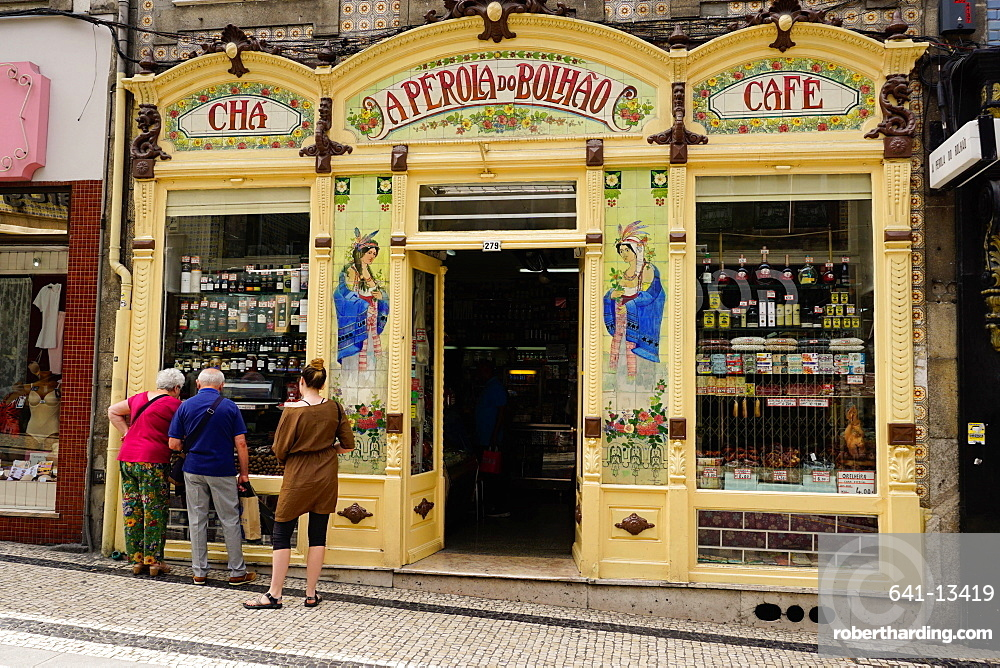 Highly decorated shop, Porto (Oporto), Portugal, Europe