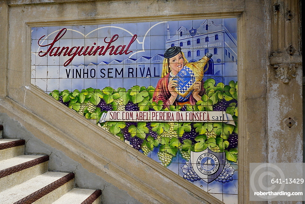 Advertising tiles, Porto, Portugal, Europe