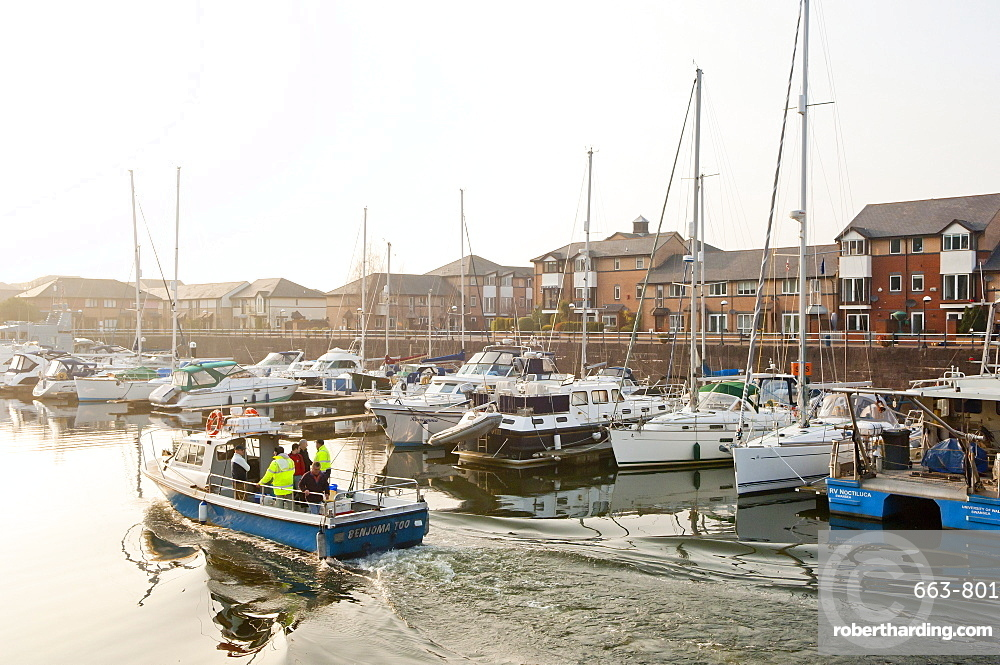 A view of the Marina at Penarth, Glamorgan, Wales, United Kingdom, Europe