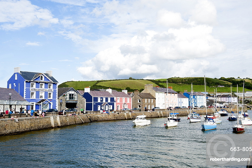 A view of the harbour at Aberaeron, Ceredigion, Wales, United Kingdom, Europe