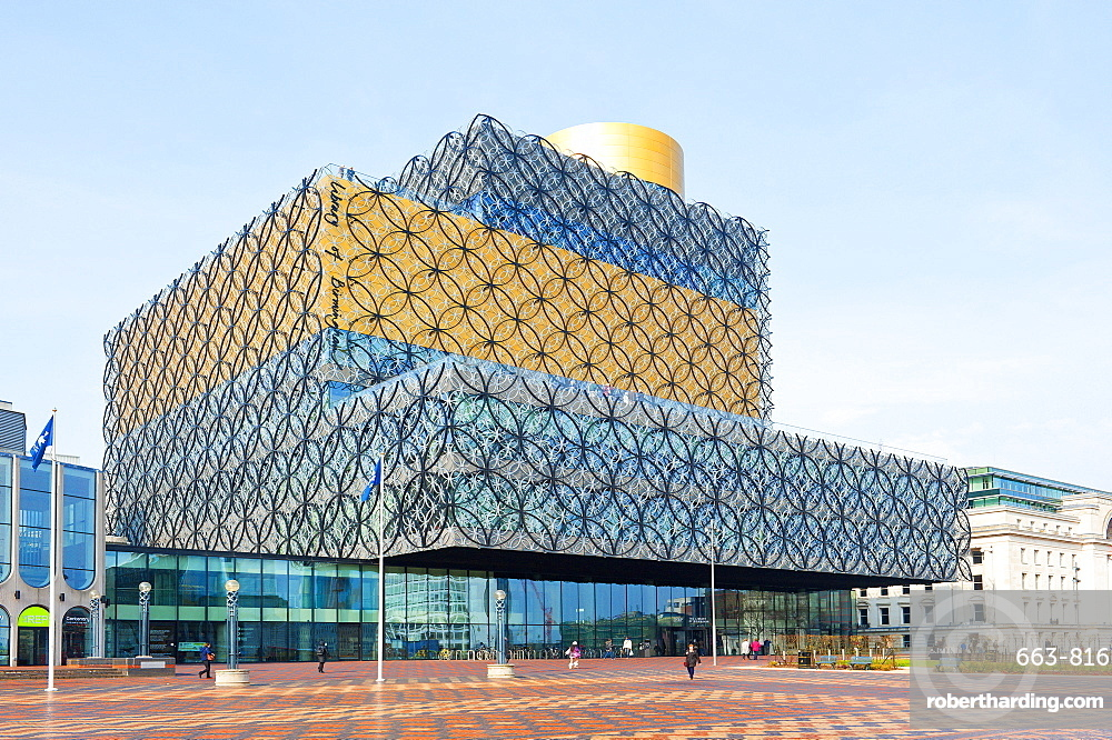 View of The Library of Birmingham, England, United Kingdom, Europe