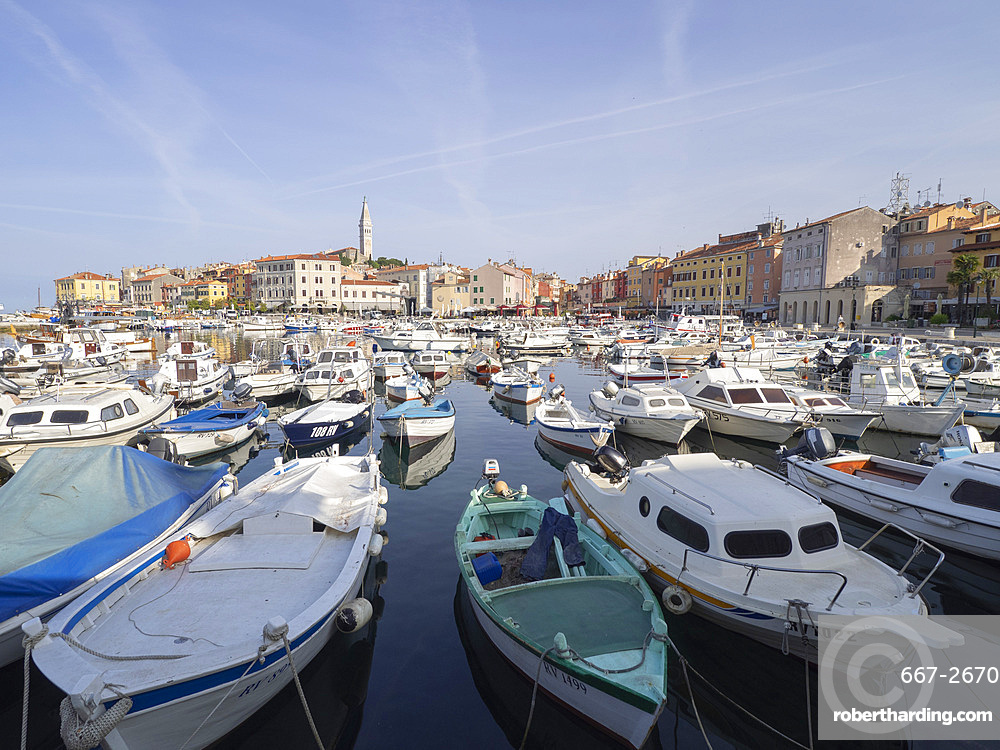 The harbour, Rovinj, Istria, Croatia, Europe