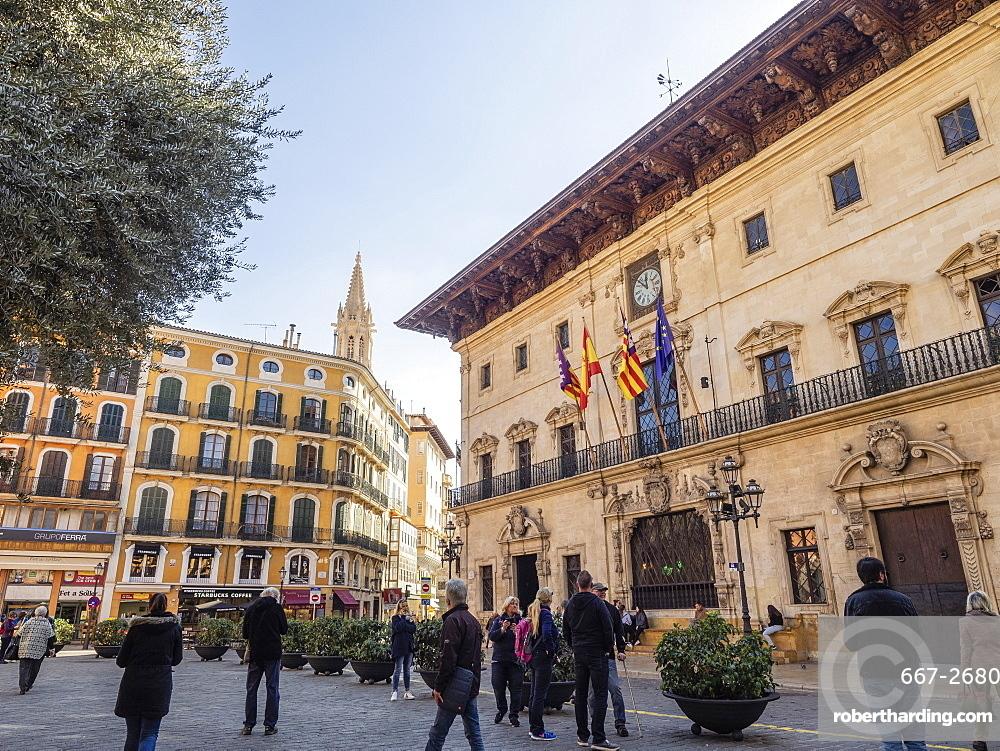 Town Hall, Placa de Cort, Palma, Mallorca, Balearic Islands, Spain, Mediterranean, Europe