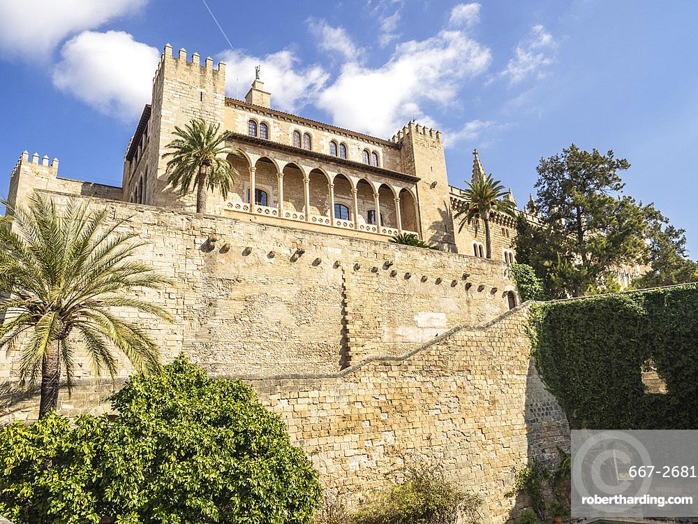 Royal Palace, Palma, Mallorca, Balearic Islands, Spain, Mediterranean, Europe