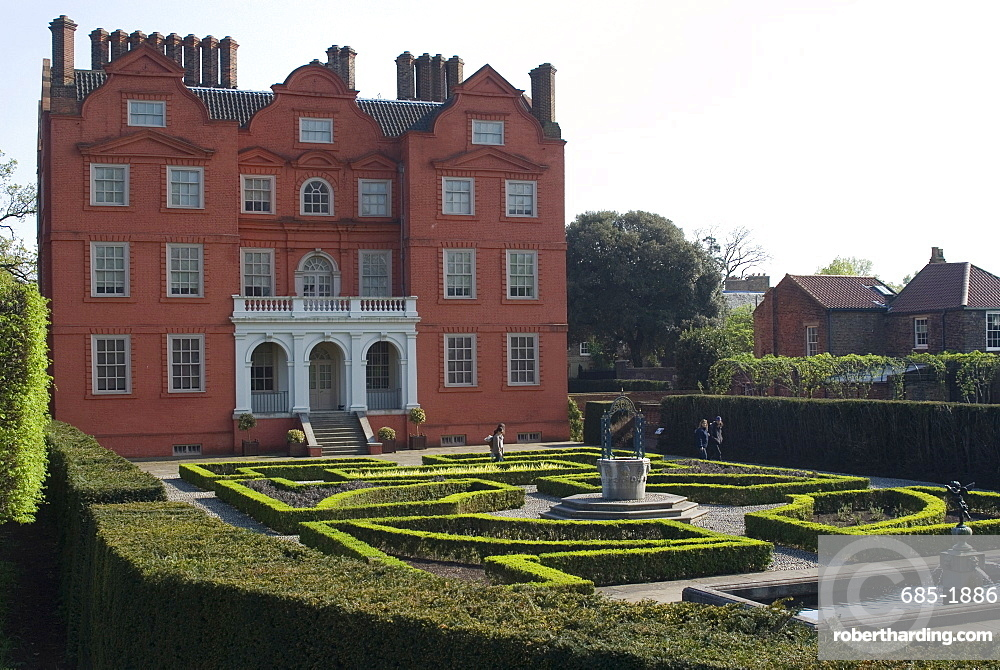 Kew Palace and Queen\'s Garden,   Stock Photo