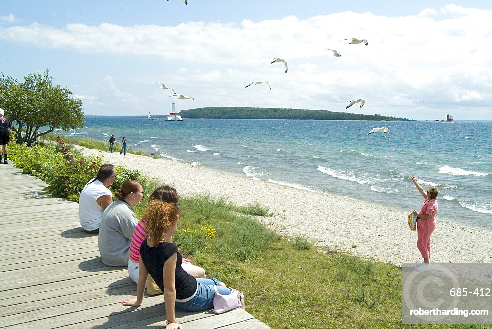 Beach, Mackinac Island, Michigan, United States of America, North America