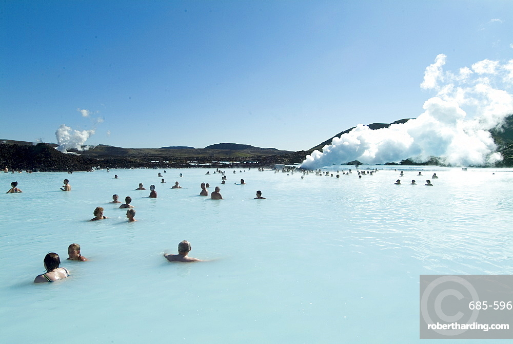 Blue Lagoon (mineral baths), near Keflavik, Iceland, Polar Regions
