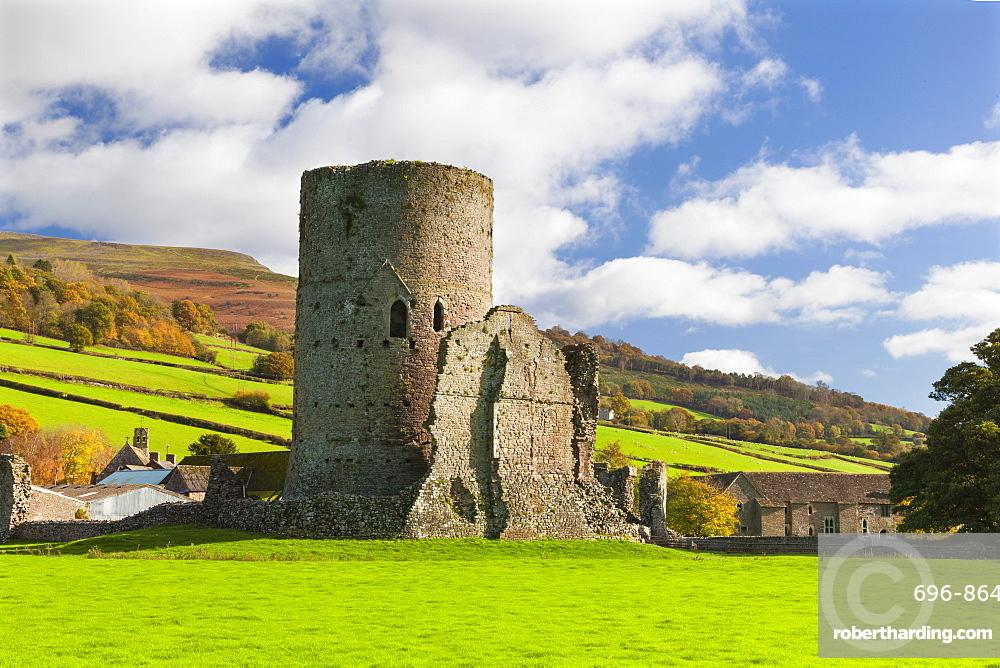 Tretower Castle, Powys, Wales, United Kingdom, Europe