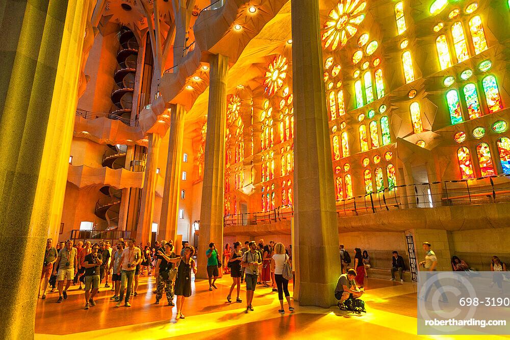 La sagrada familia church basilica stock photo for La sagrada familia inside