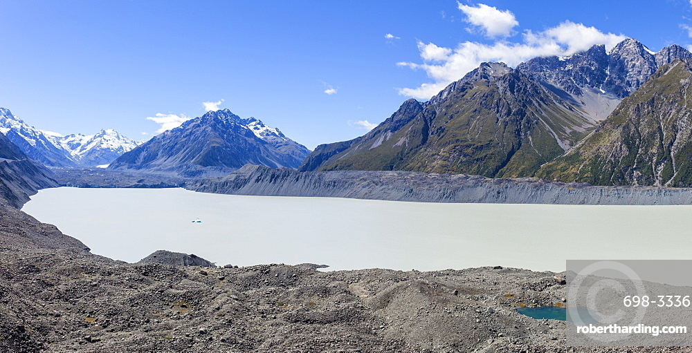 Tasman Glacier, Tasman Glacier Lake, Burnett Mountains, Mount Cook National Park, UNESCO World Heritage Site, South Island, New Zealand, Pacific
