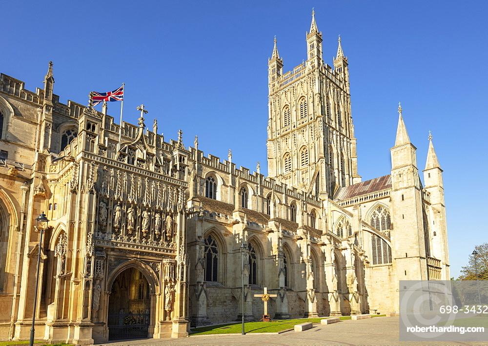 Gloucester cathedral Gloucester city centre Gloucestershire England UK GB Europe