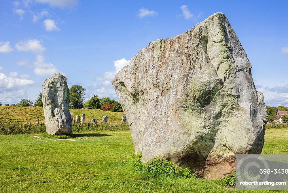 Standing stones at Avebury stone circle neolithic stone circle Avebury Wiltshire england UK GB Europe