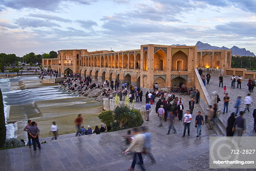 Khaju bridge on the River Zayandeh, Isfahan, Iran, Middle East