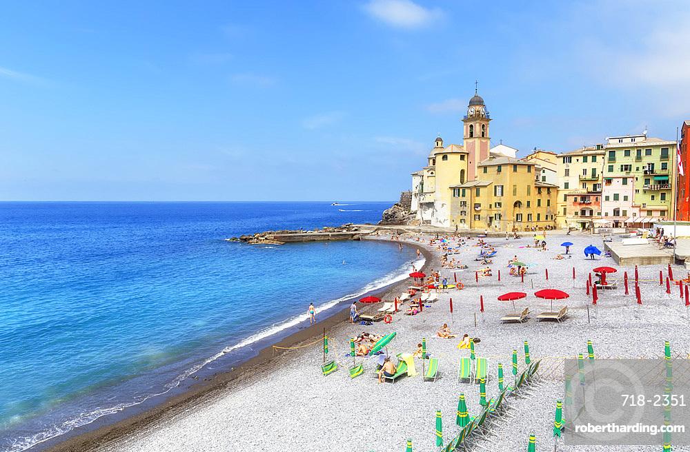 Marina harbour, Camogli, Riviera di Levante, Liguria, Italy, Europe