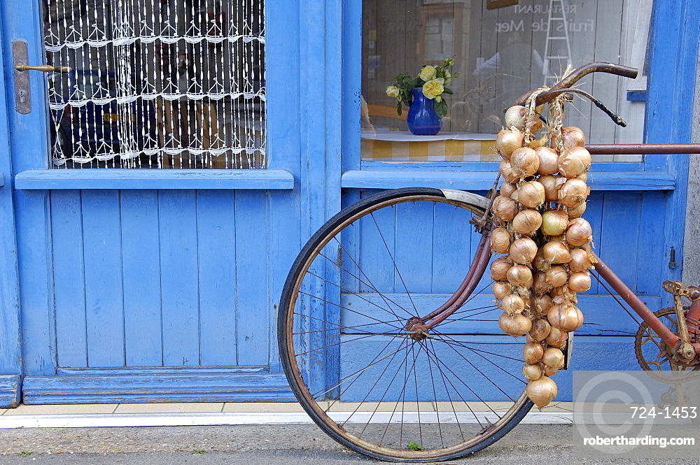 Johnnie's bike, Roscoff, North Finistere, Brittany, France, Europe