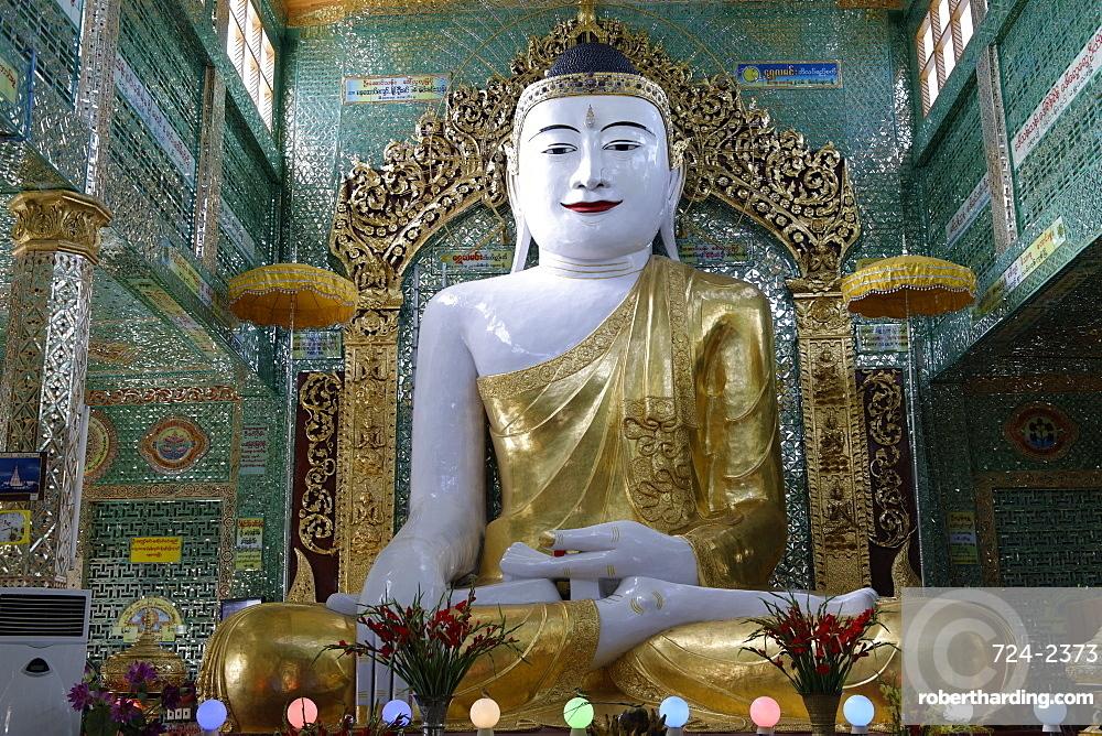 The central pagoda, Soon U Ponya Shin Pagoda, Sagaing Hill, southwest of Mandalay, Sagaing Division, Republic of the Union of Myanmar (Burma), Asia